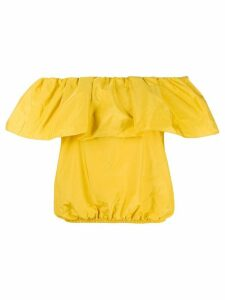 Pinko ruffled off-shoulder blouse - Yellow