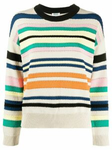 Kenzo striped relaxed-fit jumper - NEUTRALS