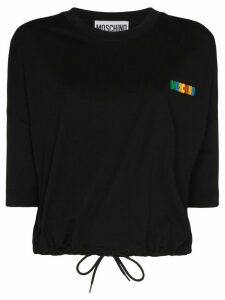 Moschino logo-appliqued cotton T-shirt - Black