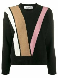 Valentino double V crew neck jumper - Black