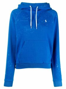 Polo Ralph Lauren painted effect hoodie - Blue