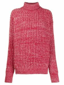 Plan C turtle neck plain jumper - Red