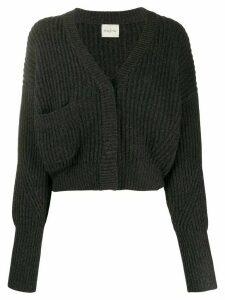 Le Kasha Monaco cropped cashmere cardigan - Grey
