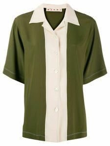 Marni panelled bowling shirt - Green