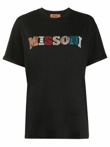 Missoni short sleeve embroidered logo T-shirt - Black