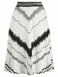Missoni elasticated intarsia knit skirt - White