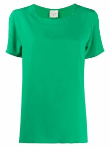 Alysi short-sleeved loose-fit blouse - Green