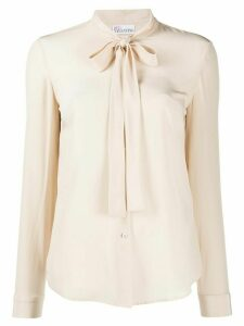 RedValentino pussy-bow blouse - NEUTRALS
