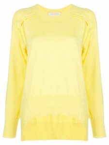 Cédric Charlier asymmetric hem jumper - Yellow