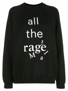 Maison Margiela All The Rage print sweatshirt - Black