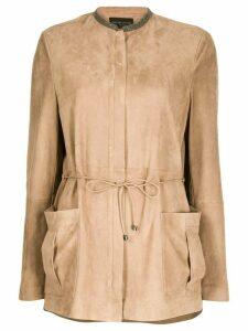Fabiana Filippi tie-waist patch-pocket jacket - Brown