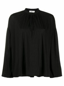 Closed tie neck blouse - Black