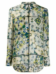 Luisa Cerano floral print lightweight shirt - Blue