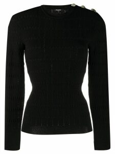 Balmain structured knitted top - Black