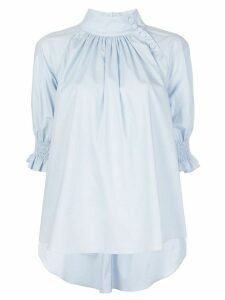Adam Lippes stand-up collar blouse - Blue