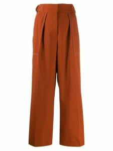 Marni side belts trousers - ORANGE