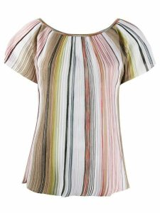 Missoni scoop neck striped knit top - NEUTRALS