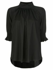 Adam Lippes stand-up collar blouse - Black