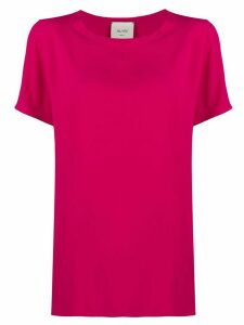 Alysi short-sleeved loose-fit blouse - PINK