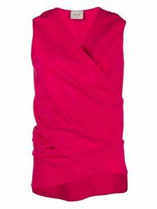Alysi wrap sleeveless top - PINK