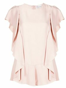 Red Valentino ruffled short-sleeve blouse - PINK