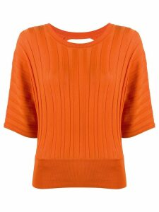Pinko open back knit top - ORANGE