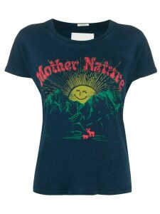 Mother Mother Nature print T-shirt - Blue