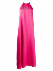 Giada Benincasa Ciao Amore satin maxi dress - PINK
