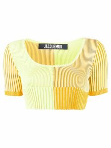 Jacquemus La Maille Yauco knitted top - ORANGE