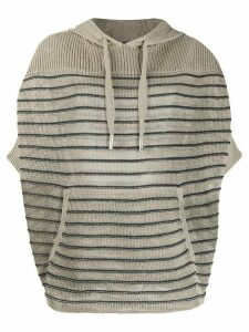 Lorena Antoniazzi striped short sleeve sweatshirt - NEUTRALS
