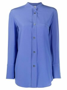 Aspesi collarless silk shirt - Blue