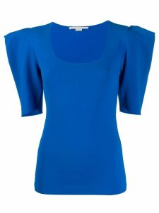 Stella McCartney structured shoulders T-shirt - Blue