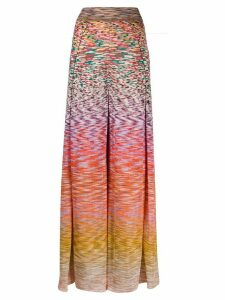 Missoni flared leg ombré knit trousers - PINK