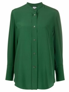 Aspesi collarless silk shirt - Green