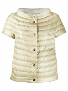 Herno short-sleeved quilted down jacket - NEUTRALS
