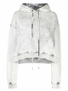 Stella McCartney cropped acid wash hoodie - White