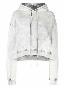 Stella McCartney cropped acid wash hoodie - White