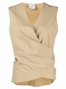 Alysi wrap sleeveless top - NEUTRALS