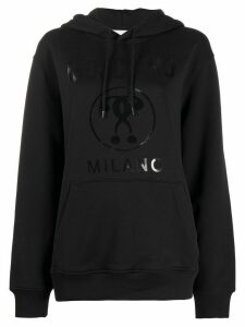 Moschino Double question mark hoodie - Black