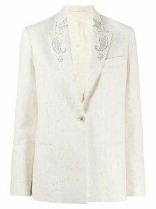 Golden Goose embellished lapel blazer - White