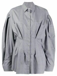 Natasha Zinko oversized cinched waist shirt - Grey