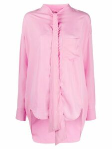 Balenciaga New Swing oversized blouse - PINK