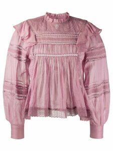 Isabel Marant Étoile Viviana ruffle-trimmed cotton blouse - PINK