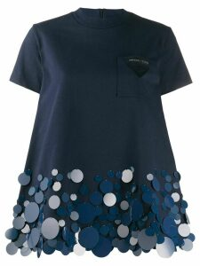 Prada sequin-embellished T-shirt - Blue
