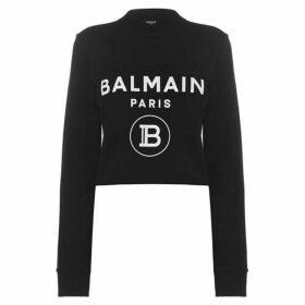 Balmain Crop Logo Sweatshirt