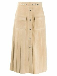 Prada A-line midi skirt - NEUTRALS