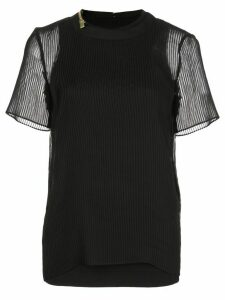 Sacai double-layered top - Black