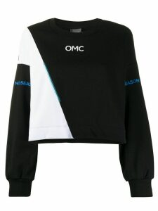 Omc colour-block panelled sweatshirt - Black