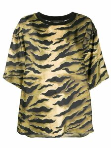 Dsquared2 shiny zebra-print T-shirt - Black