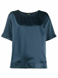 Giorgio Armani relaxed-fit silk blouse - Blue